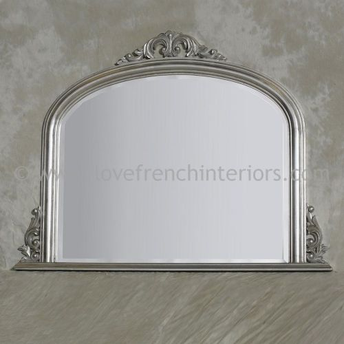 Silver Overmantel Mirror